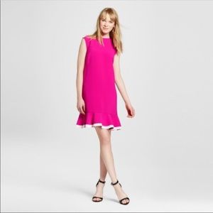 Victoria Beckham For Target Pink Ruffle Hem Dress